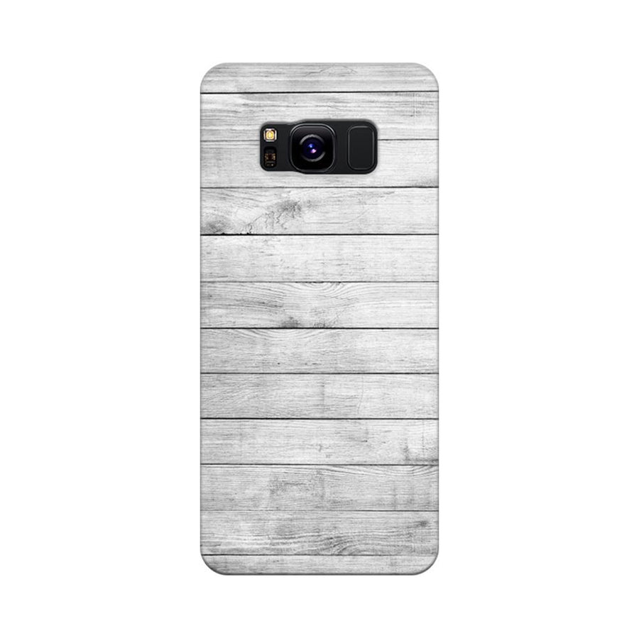 Mangomask Samsung Galaxy S8 Mobile Phone Case Back Cover Custom Printed Designer Series White Wood Two