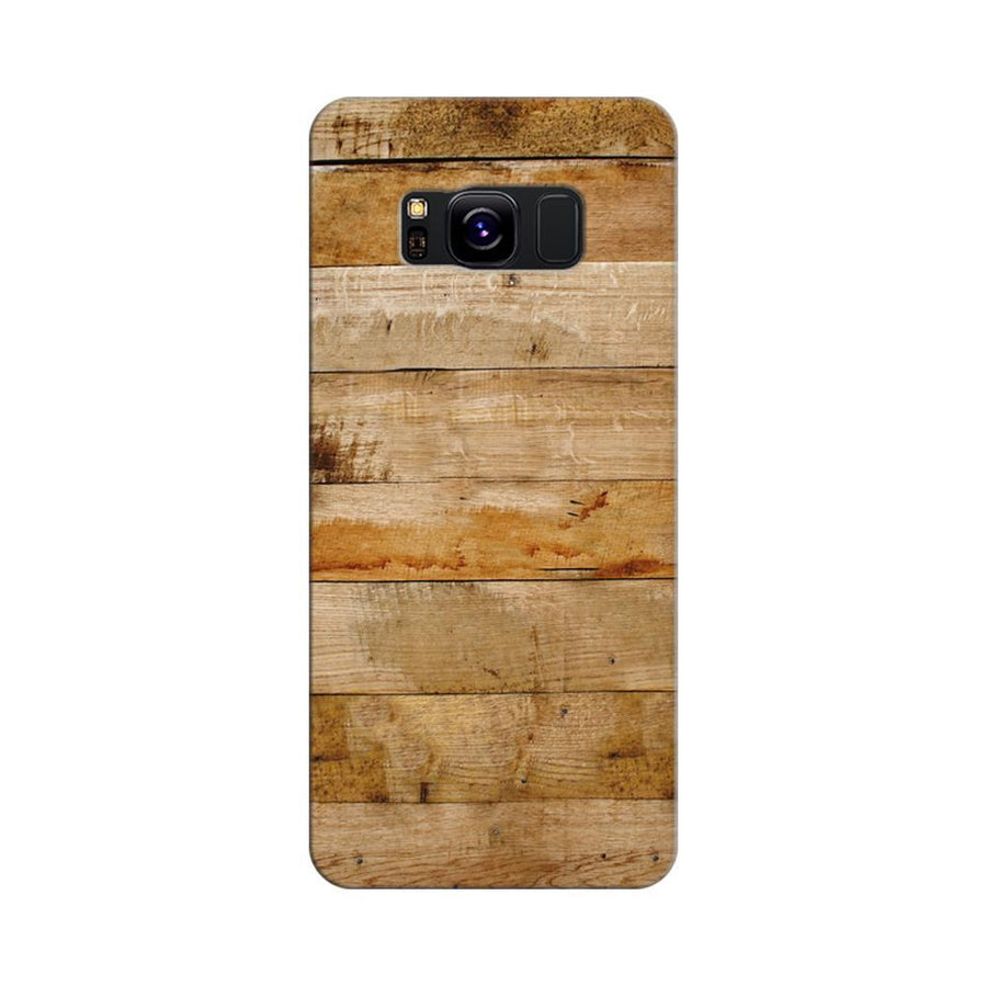 Mangomask Samsung Galaxy S8 Mobile Phone Case Back Cover Custom Printed Designer Series Teak Wood