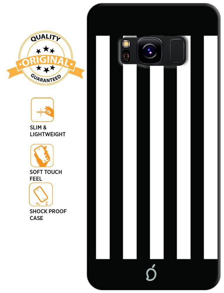 Mangomask Samsung Galaxy S8 Mobile Phone Case Back Cover Custom Printed Neon Series Black Striped Seven