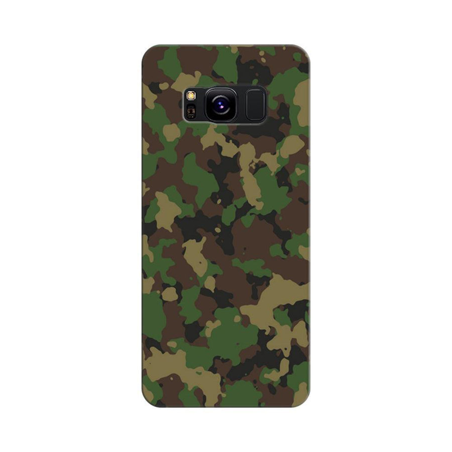 Mangomask Samsung Galaxy S8 Mobile Phone Case Back Cover Custom Printed Designer Series Green Military