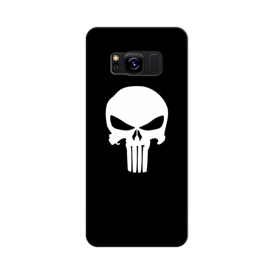 Mangomask Samsung Galaxy S8 Mobile Phone Case Back Cover Custom Printed Designer Series Black And White Skull