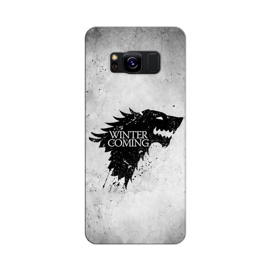 Mangomask Samsung Galaxy S8 Mobile Phone Case Back Cover Custom Printed Designer Series White Winter Is Coming Game Of Throne (Got) House Stark
