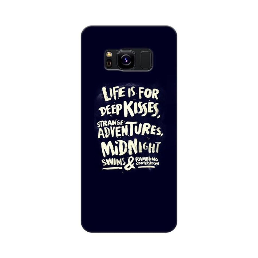 Mangomask Samsung Galaxy S8 Mobile Phone Case Back Cover Custom Printed Designer Series Life Is For Kisses