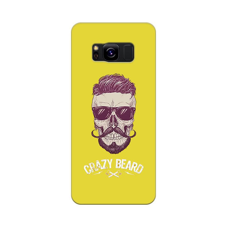 Mangomask Samsung Galaxy S8 Mobile Phone Case Back Cover Custom Printed Designer Series Yellow Hipster Skull