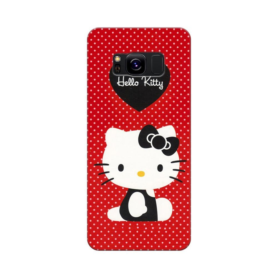 Mangomask Samsung Galaxy S8 Mobile Phone Case Back Cover Custom Printed Designer Series Hello Kitty Red