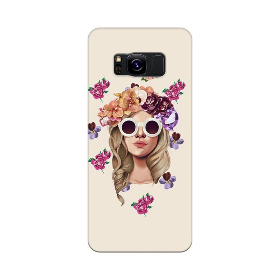 Mangomask Samsung Galaxy S8 Mobile Phone Case Back Cover Custom Printed Designer Series Cool Babe