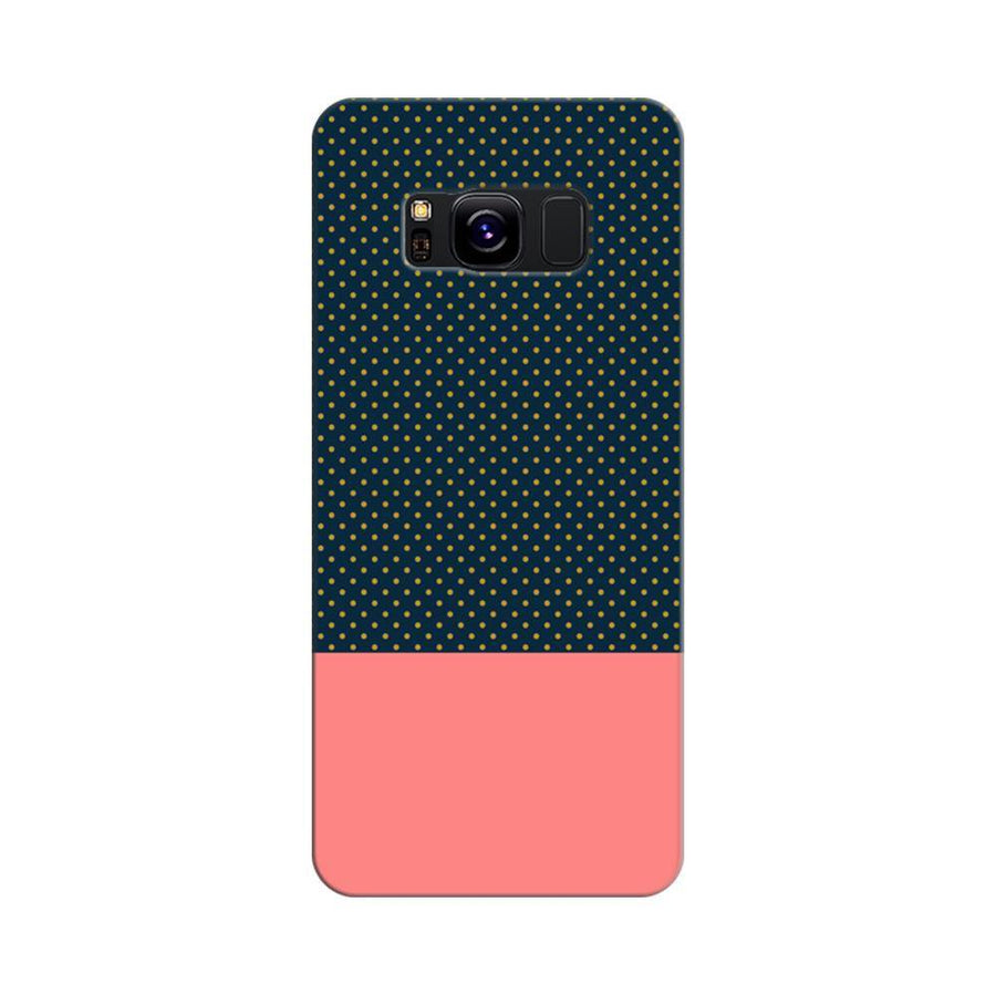 Mangomask Samsung Galaxy S8 Mobile Phone Case Back Cover Custom Printed Designer Series Black And Pink Polka Dots