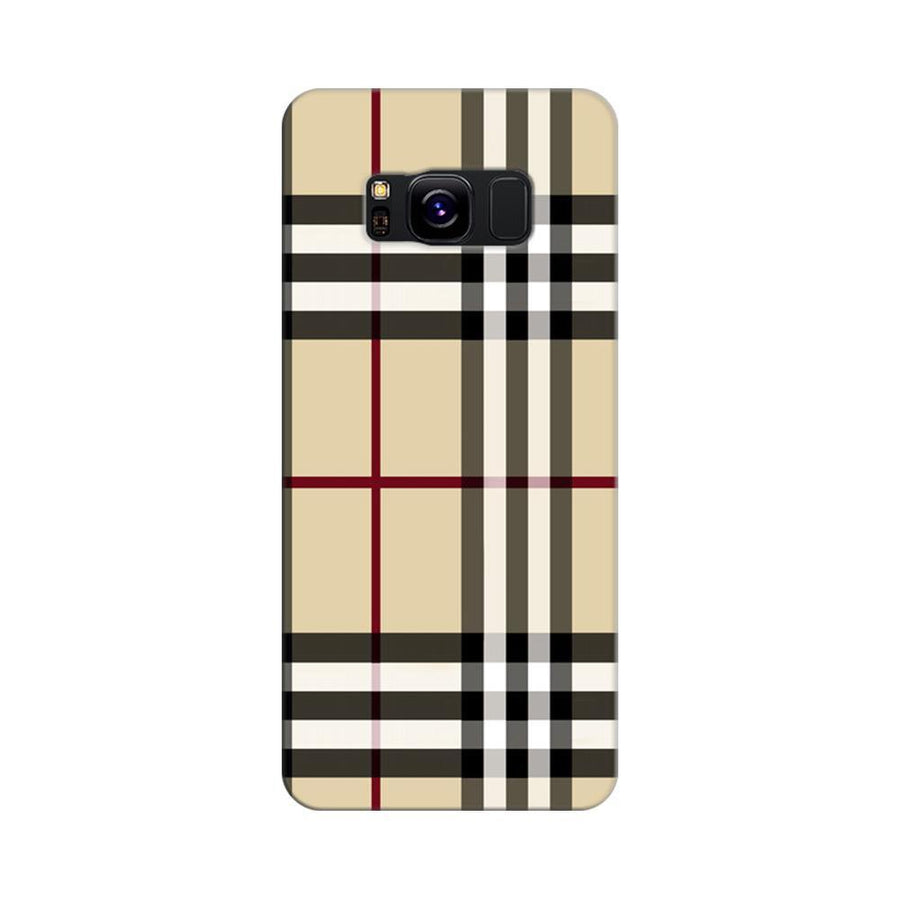 Mangomask Samsung Galaxy S8 Mobile Phone Case Back Cover Custom Printed Designer Series Burberry Pattern