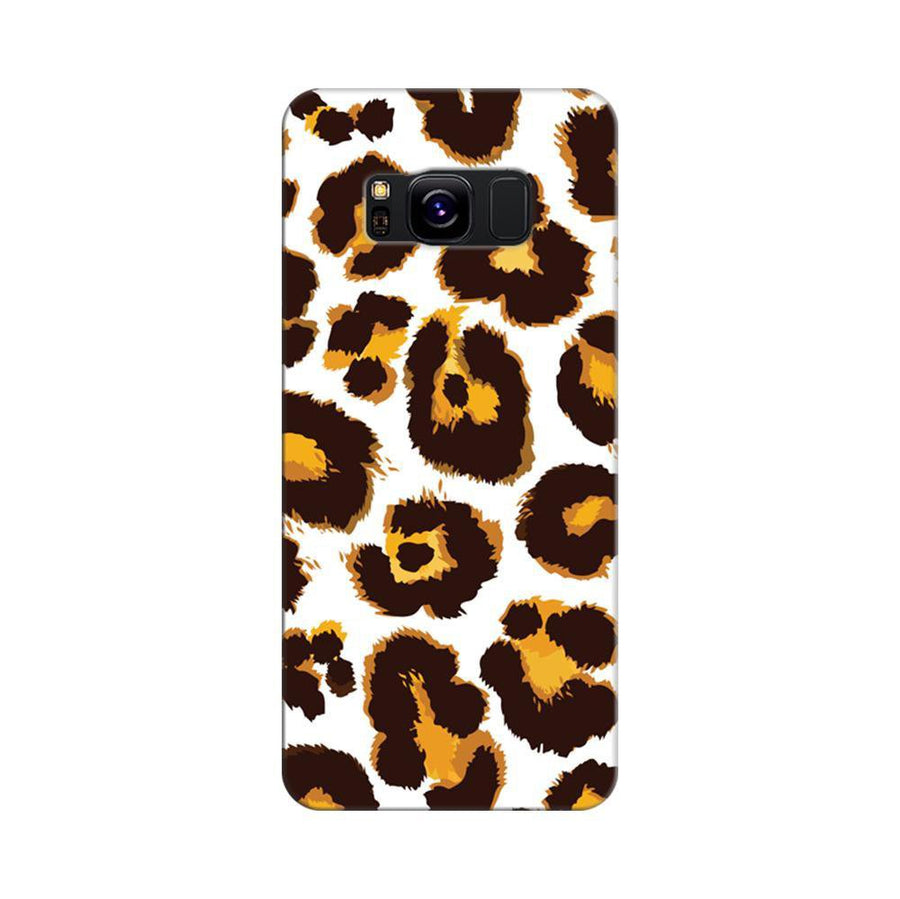 Mangomask Samsung Galaxy S8 Mobile Phone Case Back Cover Custom Printed Designer Series Tiger Cheetah Animal Print