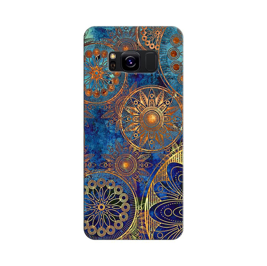 Mangomask Samsung Galaxy S8 Mobile Phone Case Back Cover Custom Printed Designer Series Aqua Chakra Pattern
