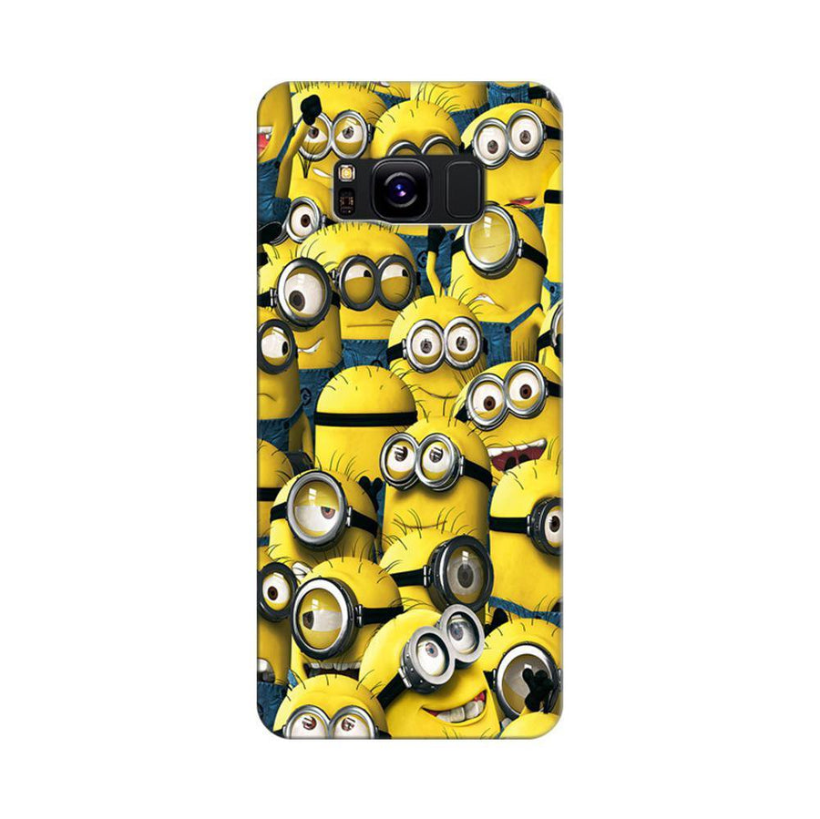 Mangomask Samsung Galaxy S8 Mobile Phone Case Back Cover Custom Printed Designer Series Funny Minions Despicable Me