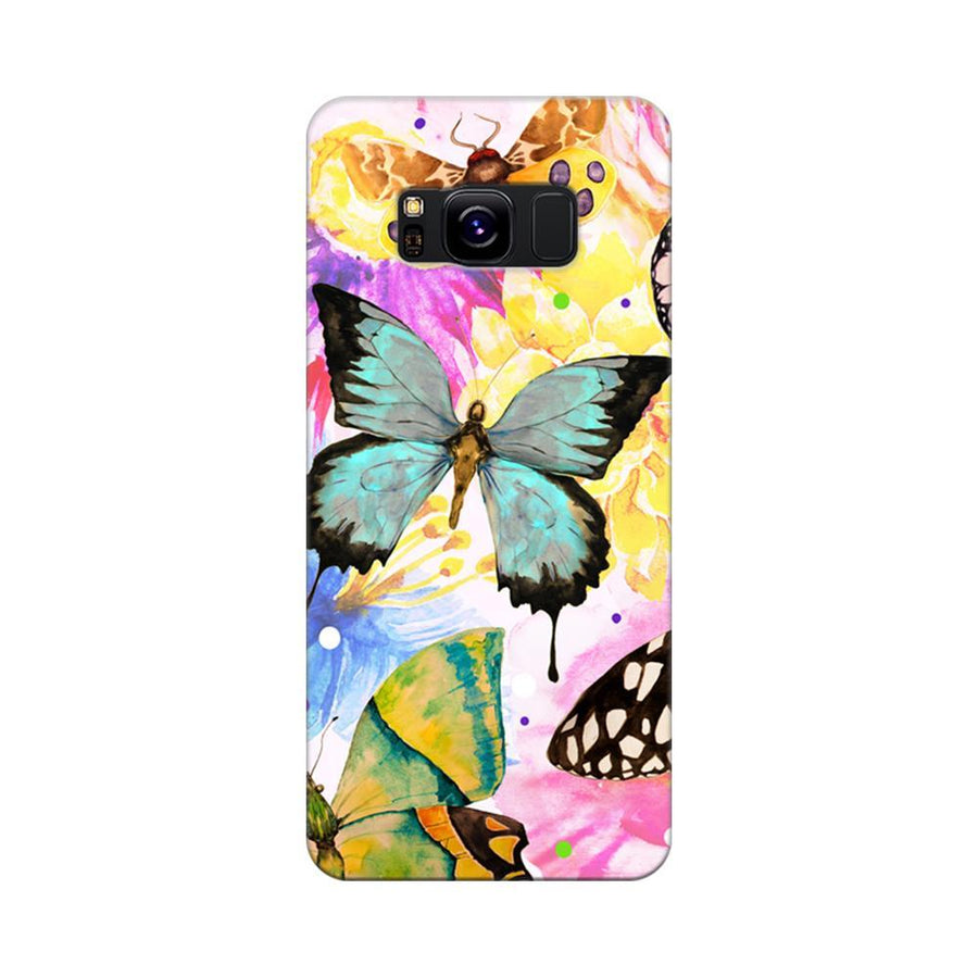 Mangomask Samsung Galaxy S8 Mobile Phone Case Back Cover Custom Printed Designer Series Butterfly Floral