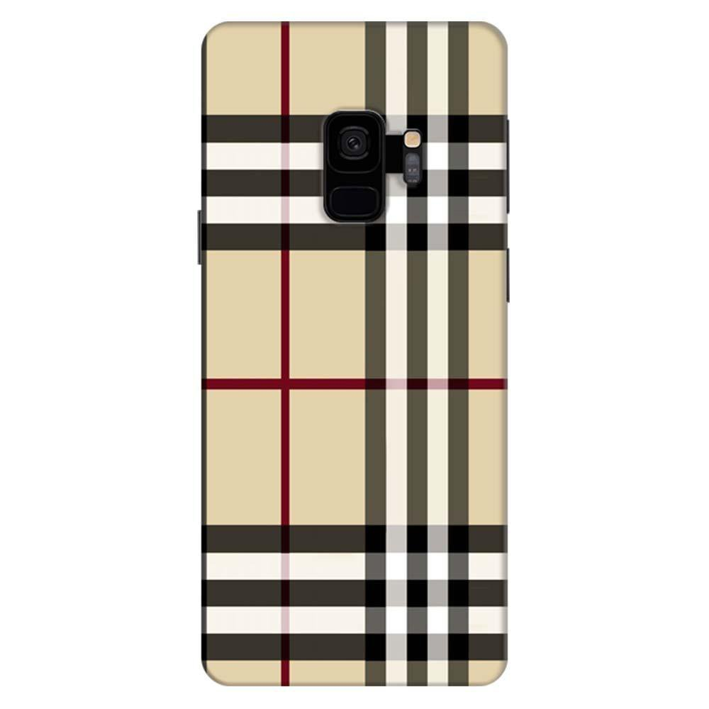 competitive price bea74 6f0d9 Mangomask Samsung Galaxy S9 Mobile Phone Case Back Cover Custom Printed  Designer Series Burberry Pattern