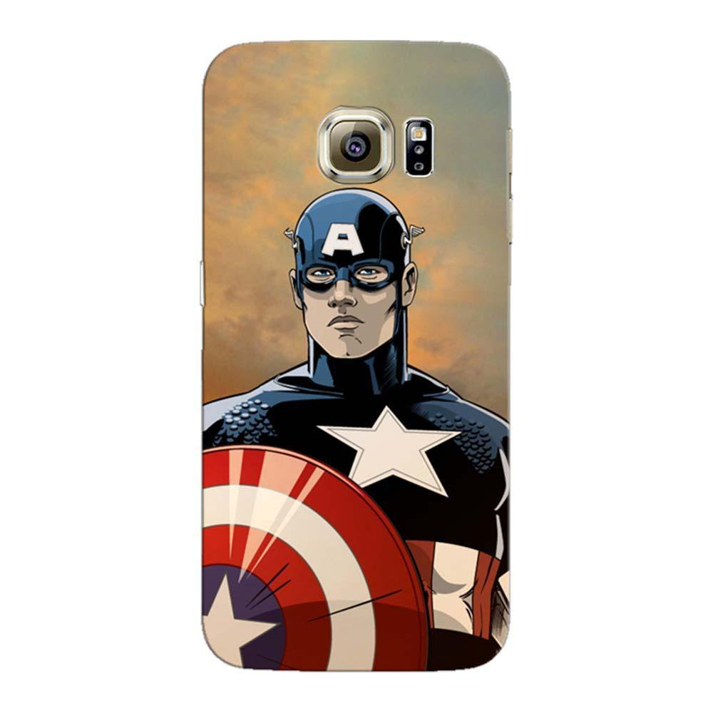 best authentic e70c4 64169 MangomaskSamsung Galaxy S6 Mobile Phone Case Back Cover Custom Printed  Designer Series Captain America 01