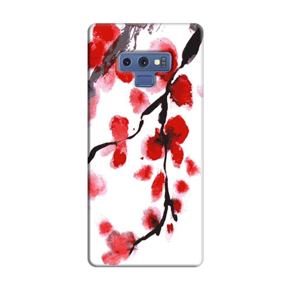 sale retailer 6352c 87609 Mangomask Samsung Galaxy Note 9 Mobile Phone Case Back Cover Custom Printed  Designer Series Red And White Black Floral