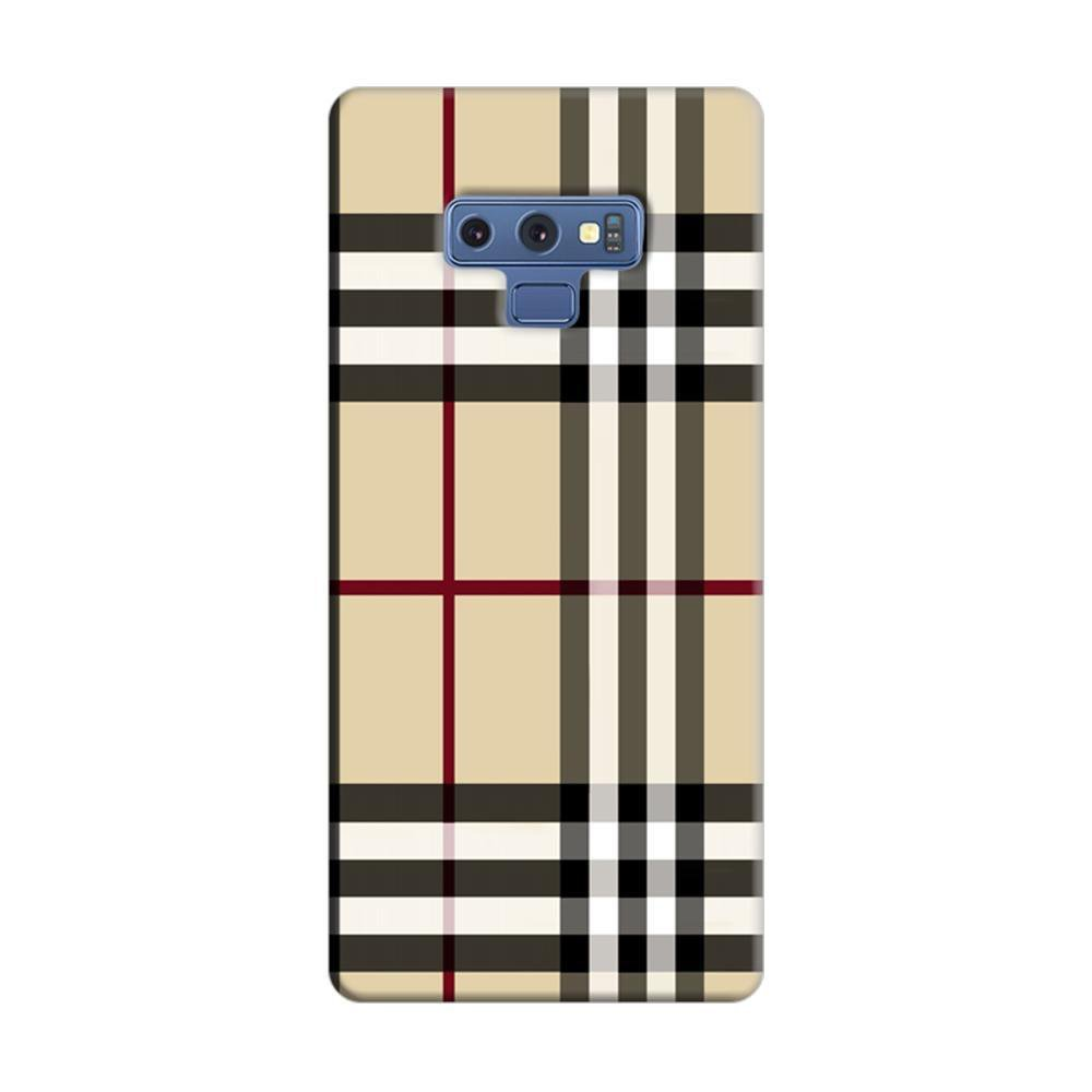 premium selection e599d 152b0 Mangomask Samsung Galaxy Note 9 Mobile Phone Case Back Cover Custom Printed  Designer Series Burberry Pattern
