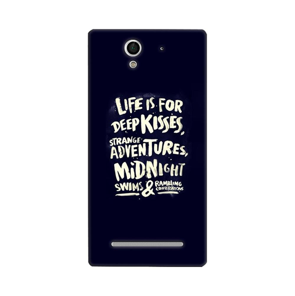 buy popular f8bf5 51650 Mangomask Sony Xperia C3 Mobile Phone Case Back Cover Custom Printed  Designer Series Life Is For Kisses
