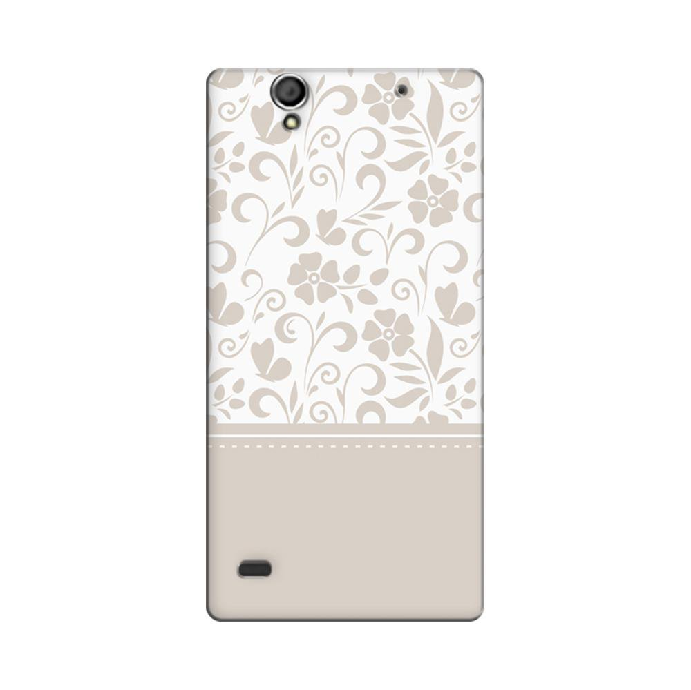 outlet store 329fc 413f2 Mangomask Sony Xperia C4 Mobile Phone Case Back Cover Custom Printed  Designer Series White And Beige Floral