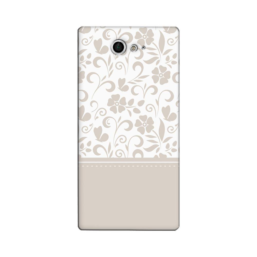 newest collection d8cfe ea496 Mangomask Sony Xperia M2 Mobile Phone Case Back Cover Custom Printed  Designer Series White And Beige Floral