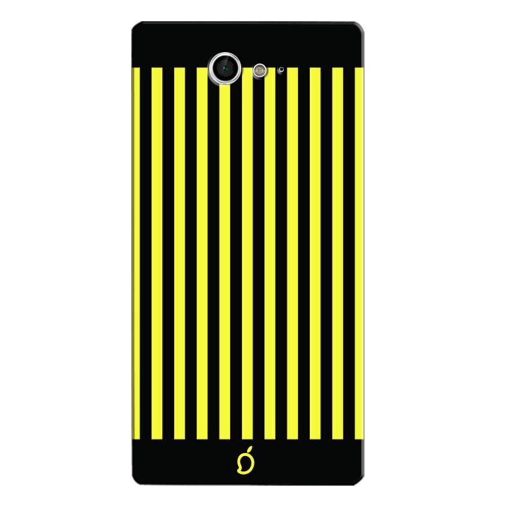 on sale 0d6e6 9f1d3 Mangomask Sony Xperia M2 Mobile Phone Case Back Cover Custom Printed Neon  Series Corn Yellow Striped Eight