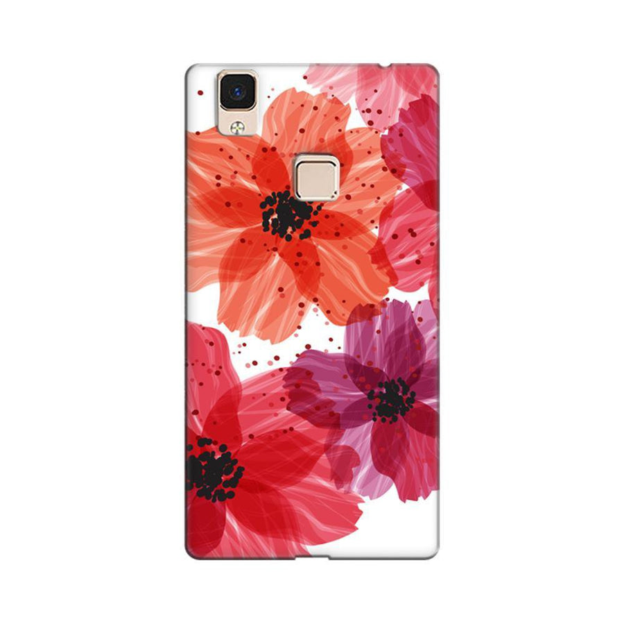 c851e817d Mangomask Vivo V3 Max Mobile Phone Case Back Cover Custom Printed Designer  Series Red Floral One