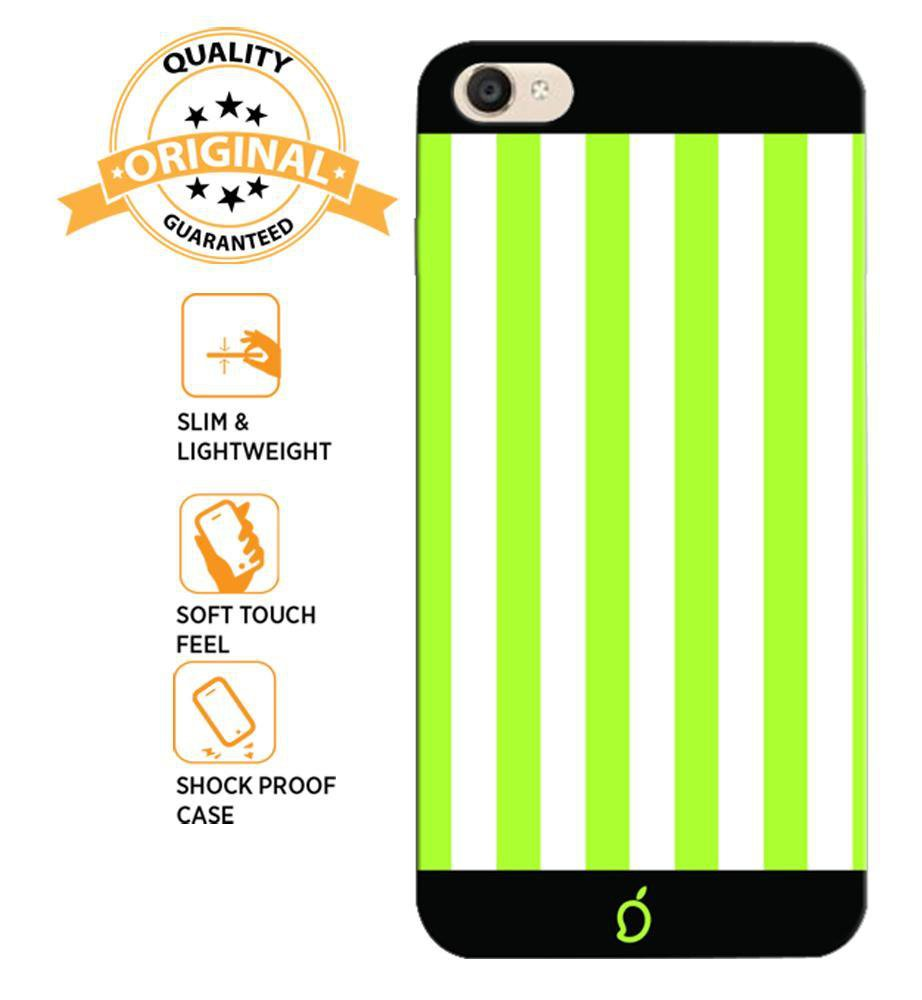 official photos d4b87 a3558 Mangomask Vivo Y53 Mobile Phone Case Back Cover Custom Printed Neon Series  Inchworm Green Striped Seven