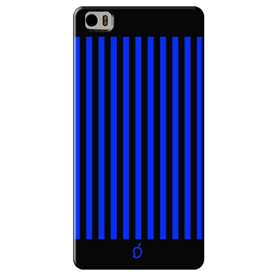 Mangomask Xiaomi Mi 5 Mobile Phone Case Back Cover Custom Printed Neon Series Royal Blue Striped Eight
