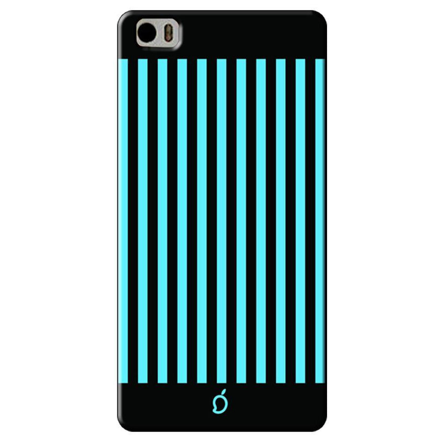 Mangomask Xiaomi Mi 5 Mobile Phone Case Back Cover Custom Printed Neon Series Deep Sky Blue Striped Eight