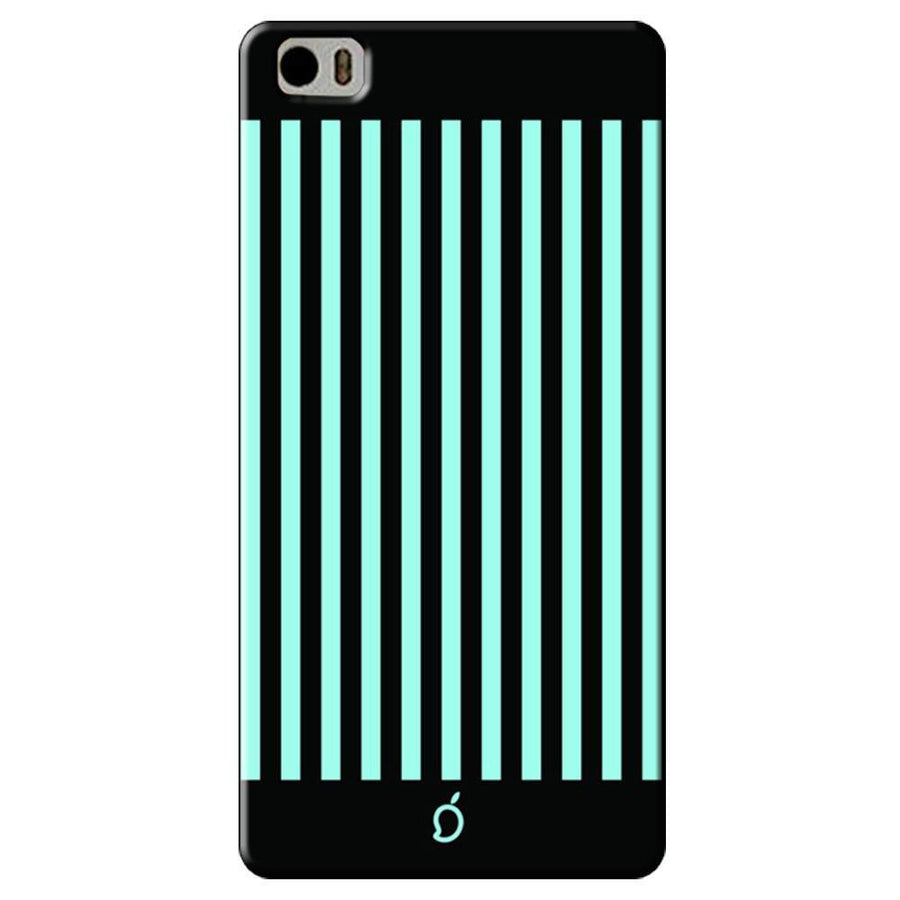 Mangomask Xiaomi Mi 5 Mobile Phone Case Back Cover Custom Printed Neon Series Electric Blue Striped Eight