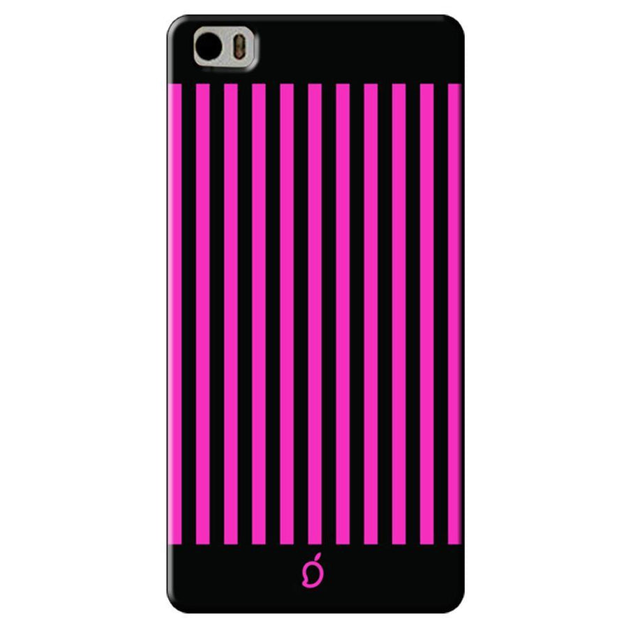 Mangomask Xiaomi Mi 5 Mobile Phone Case Back Cover Custom Printed Neon Series Dark Pink Striped Eight