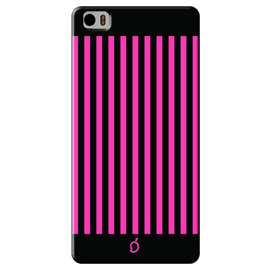 Mangomask Xiaomi Mi 5 Mobile Phone Case Back Cover Custom Printed Neon Series Brink pink Striped Eight