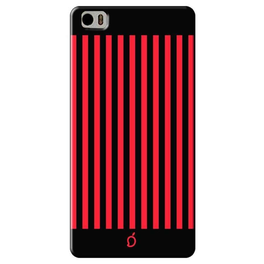 Mangomask Xiaomi Mi 5 Mobile Phone Case Back Cover Custom Printed Neon Series Carmine Red Striped Eight