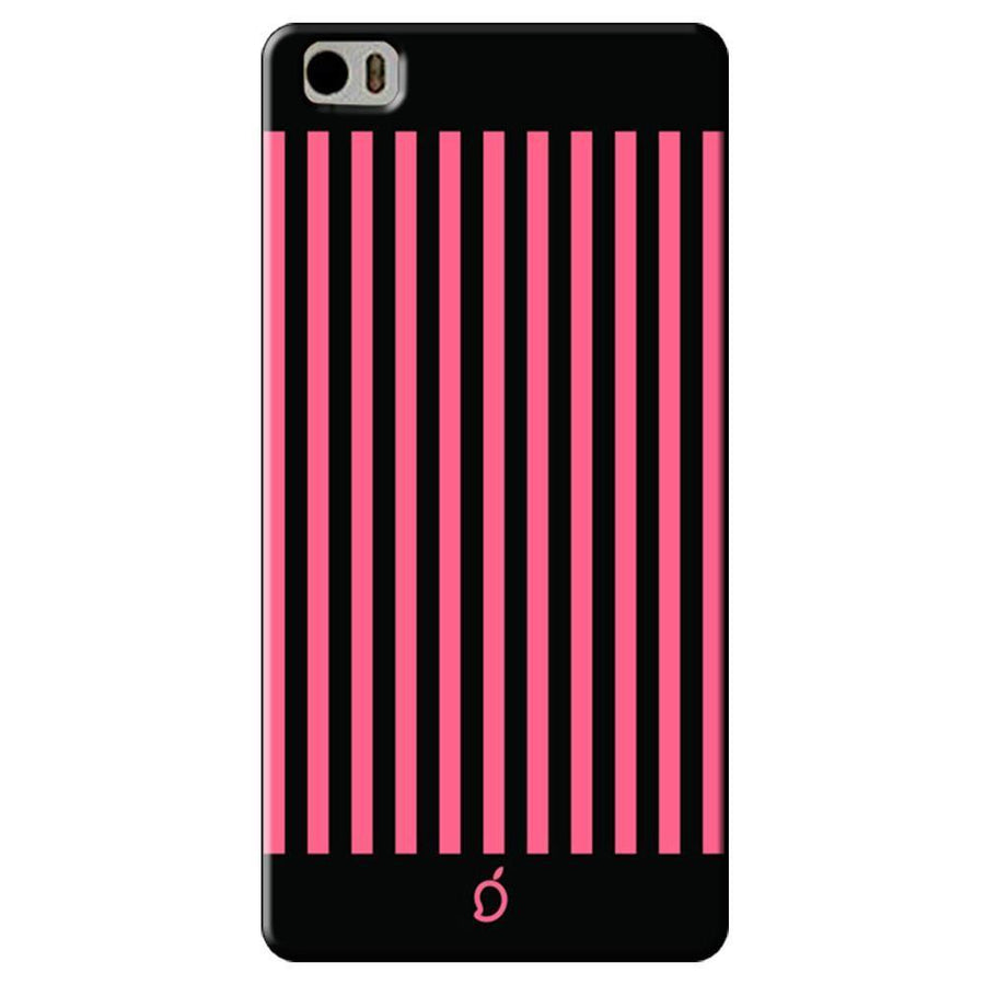 Mangomask Xiaomi Mi 5 Mobile Phone Case Back Cover Custom Printed Neon Series Coral Pink Striped Eight