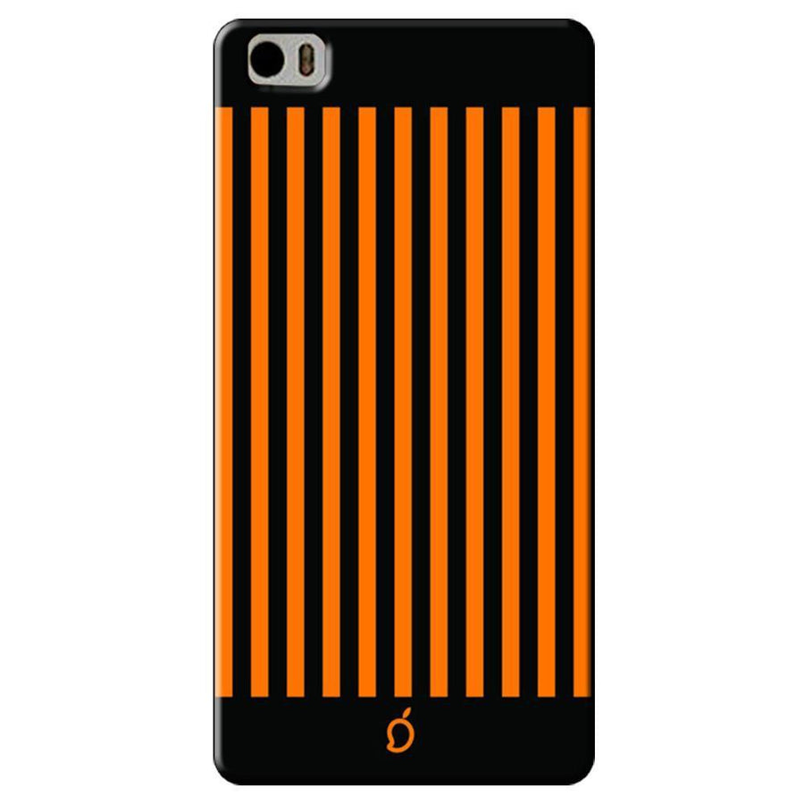 Mangomask Xiaomi Mi 5 Mobile Phone Case Back Cover Custom Printed Neon Series Dark Orange Striped Eight