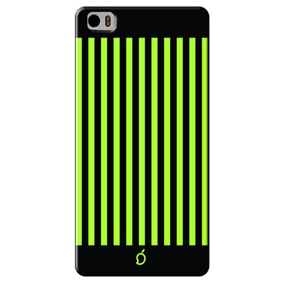 Mangomask Xiaomi Mi 5 Mobile Phone Case Back Cover Custom Printed Neon Series Inchworm Green Striped Eight