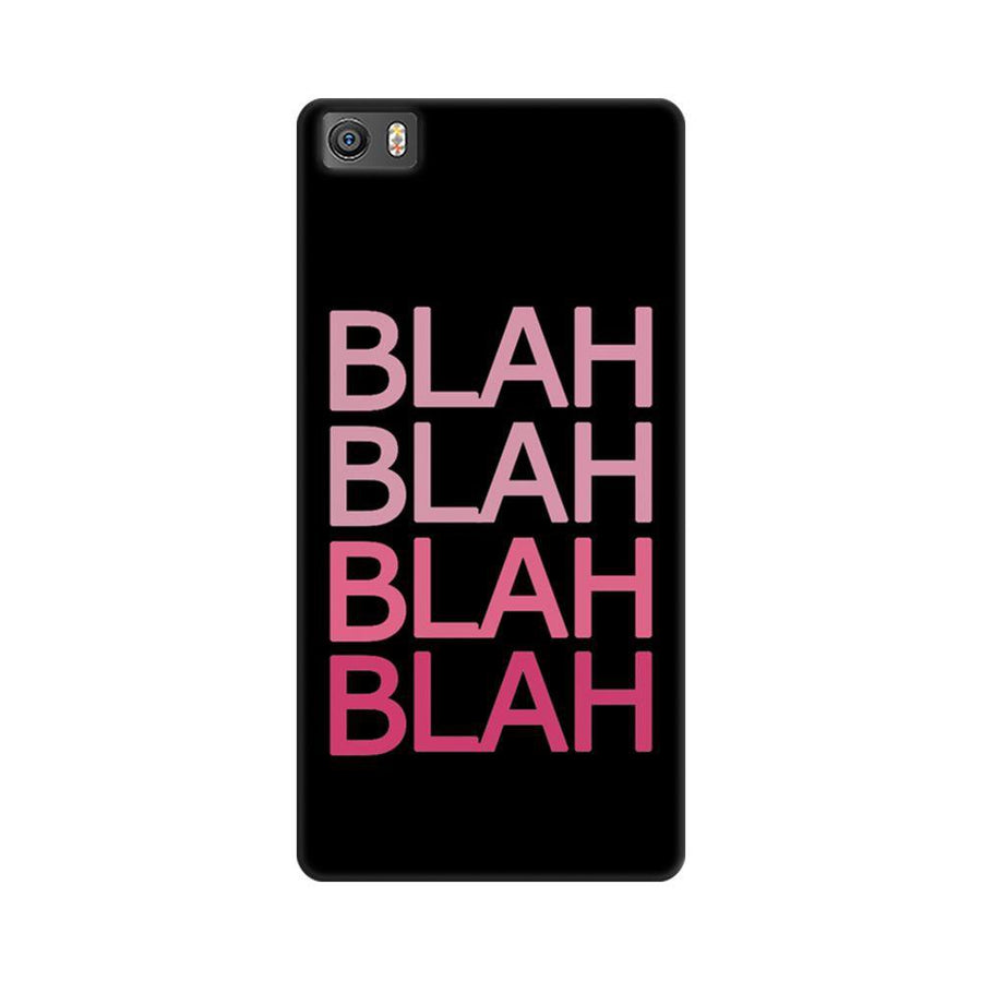 Mangomask Xiaomi Mi 5  Mobile Phone Case Back Cover Custom Printed Designer Series Blah Blah