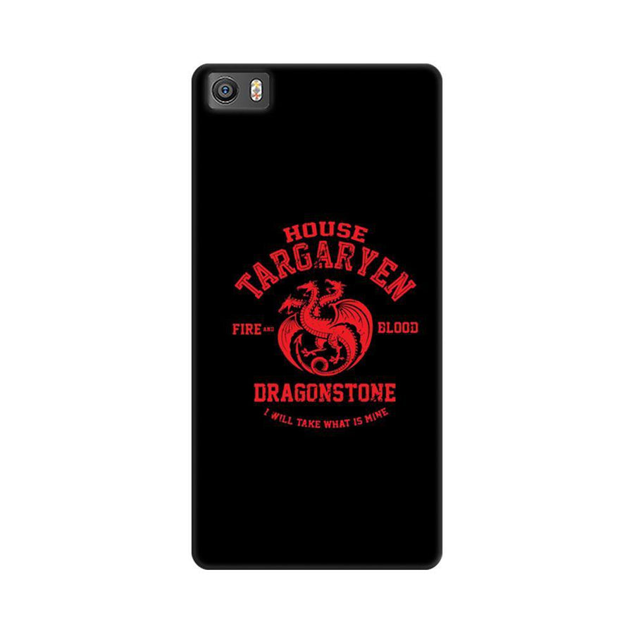 Mangomask Xiaomi Mi 5  Mobile Phone Case Back Cover Custom Printed Designer Series Game Of Thrones (Got) House Targaryen