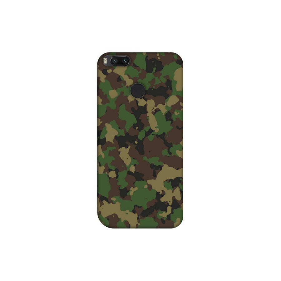 Mangomask Xiaomi Mi A1 (5X) Mobile Phone Case Back Cover Custom Printed Designer Series Green Military