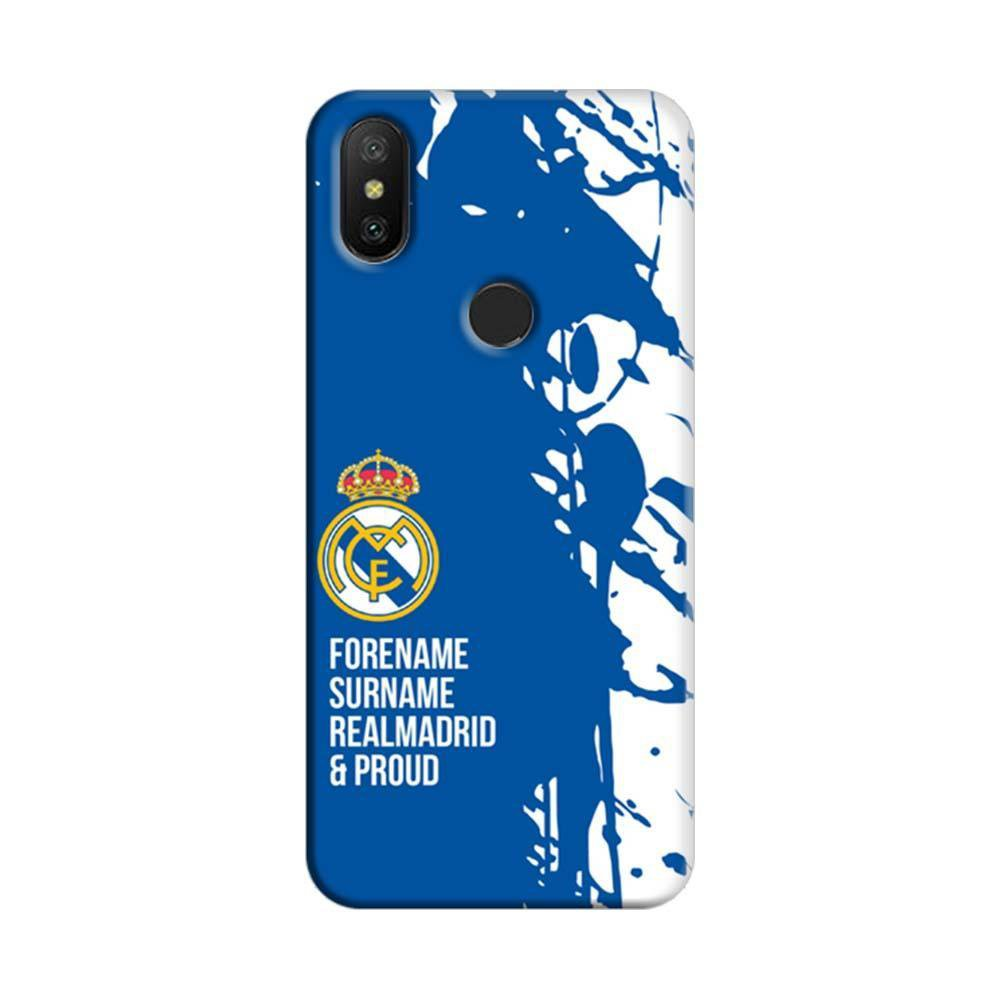 new style 4618a 4851b Mangomask Xiaomi Redmi 6 Pro Mobile Phone Case Back Cover Custom Printed  Designer Series Real Madrid FSRP