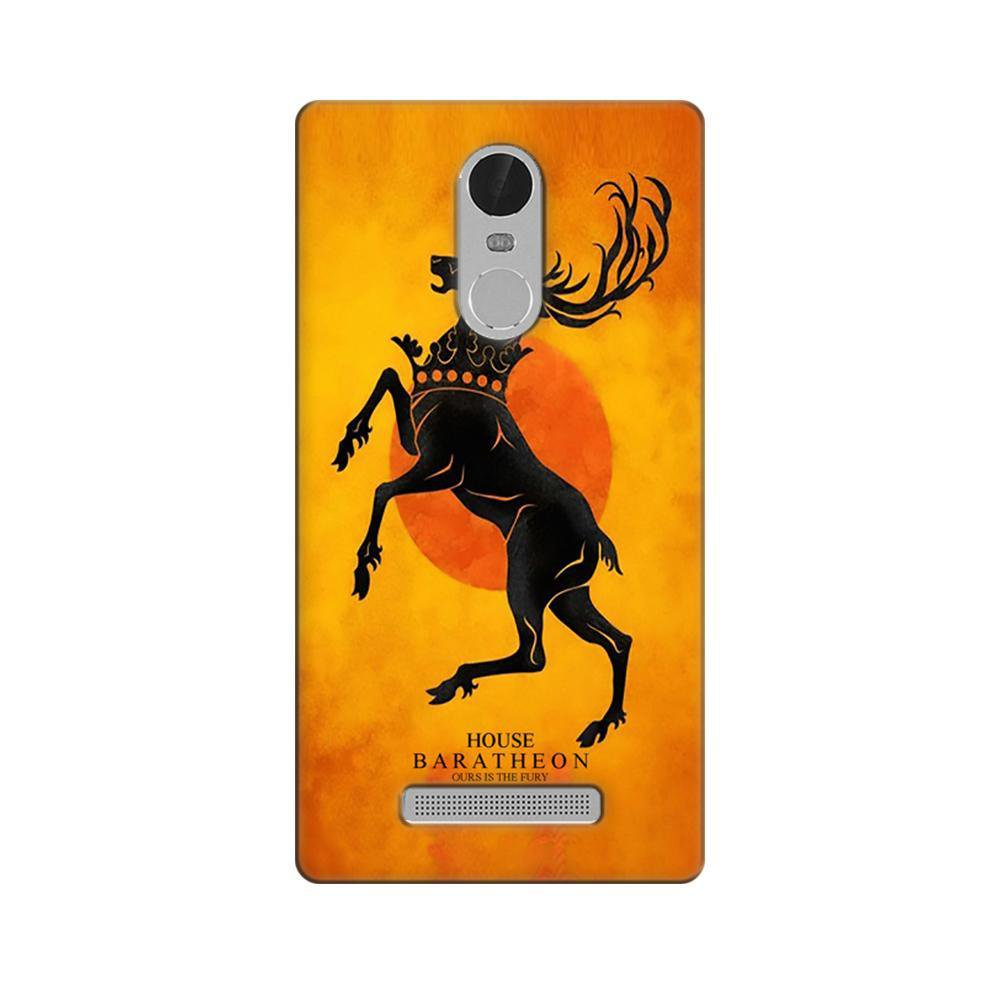 competitive price b7822 9f325 Mangomask Xiaomi Redmi Note 3 Mobile Phone Case Back Cover Custom Printed  Designer Series Game Of Thrones (Got) House Baratheon