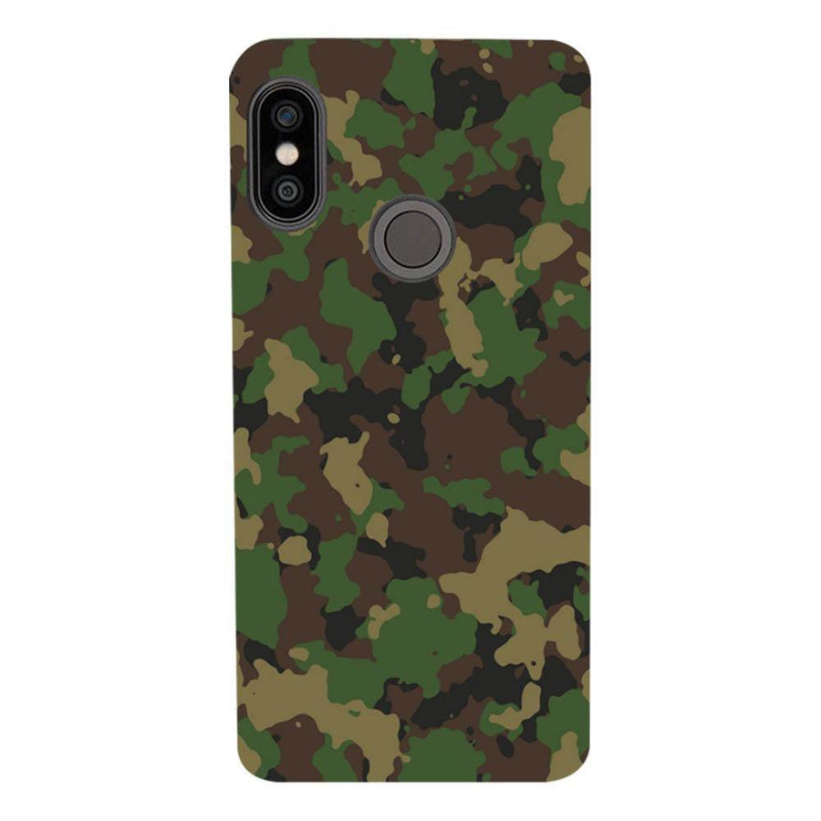 Mangomask Xiaomi Redmi Note 5 Pro Mobile Phone Case Back Cover Custom Printed Designer Series Green Military