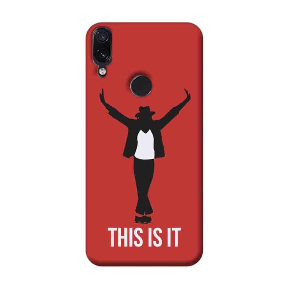 brand new 7f90b d1236 Mangomask Xiaomi Redmi Note 7 Pro Mobile Phone Case Back Cover Custom  Printed Designer Series Michael Jackson This is it