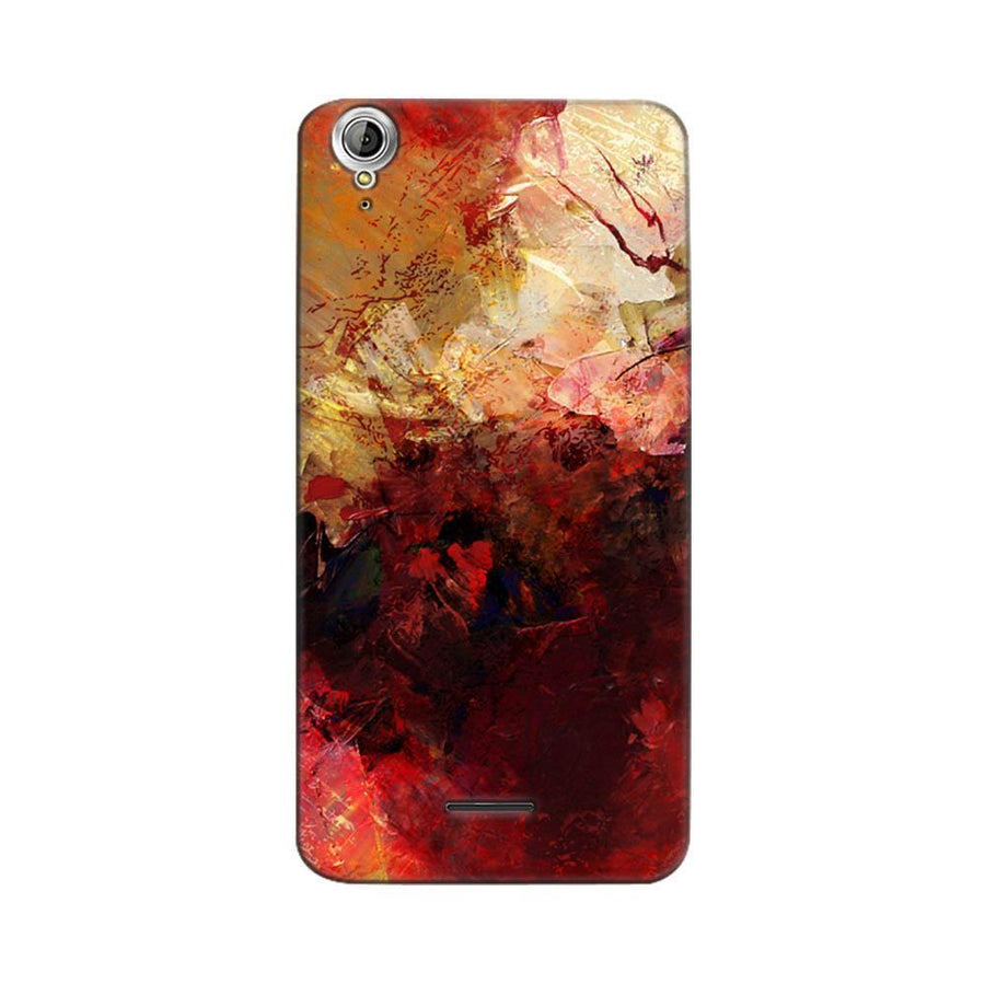 Mangomask Acer Liquid Z630 Mobile Phone Case Back Cover Custom Printed Designer Series Red And Gold Brush Strokes