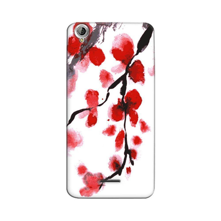 Mangomask Acer Liquid Z630 Mobile Phone Case Back Cover Custom Printed Designer Series Red And White Black Floral