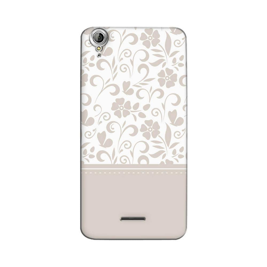 Mangomask Acer Liquid Z630 Mobile Phone Case Back Cover Custom Printed Designer Series White And Beige Floral