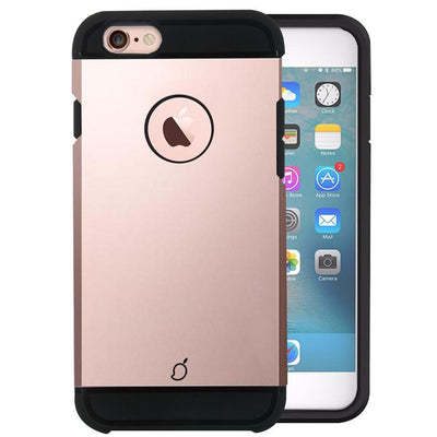 Apple iPhone 6 / 6s Rose Gold Mangomask - Apple iPhone 6 / 6s Mobile Phone Case Back Cover Military Series