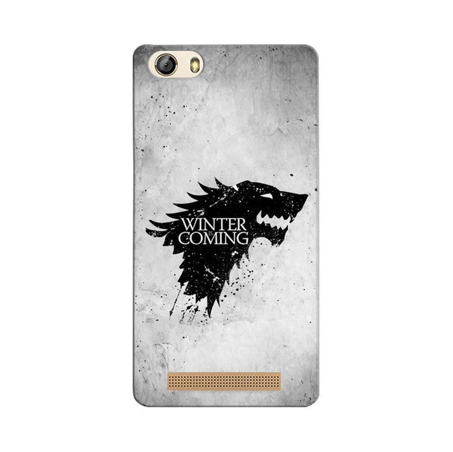Mangomask Gionee Marathon M5 Lite Mobile Phone Case Back Cover Custom Printed Designer Series White Winter Is Coming Game Of Throne (Got) House Stark