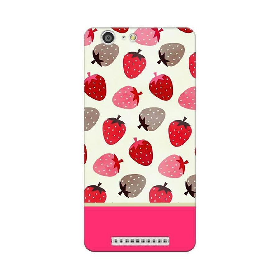Mangomask Gionee Marathon M5 Mobile Phone Case Back Cover Custom Printed Designer Series Red And Pink Strawberries