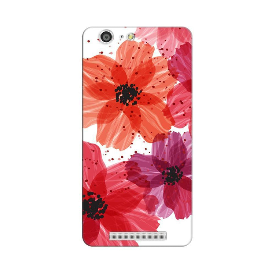 Mangomask Gionee Marathon M5 Mobile Phone Case Back Cover Custom Printed Designer Series Red Floral One