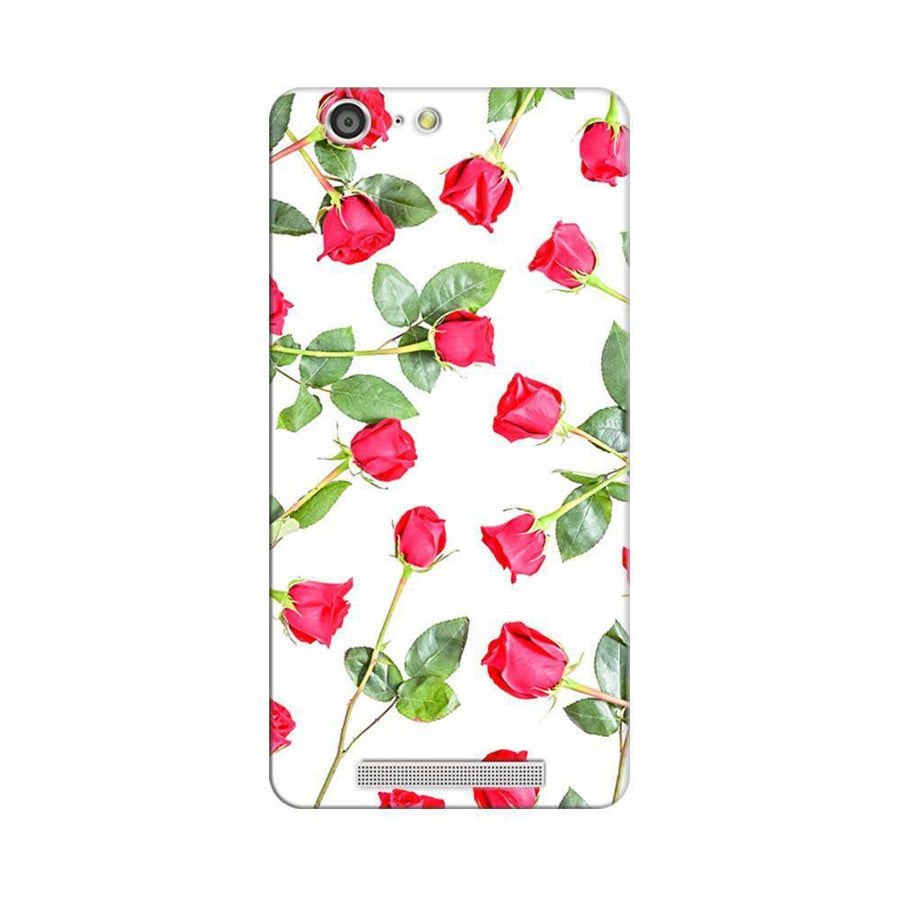 Mangomask Gionee Marathon M5 Mobile Phone Case Back Cover Custom Printed Designer Series Red Roses Floral